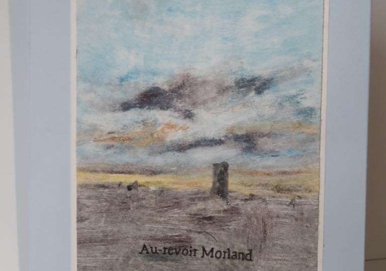 Adieu Morland, couverture, monotype