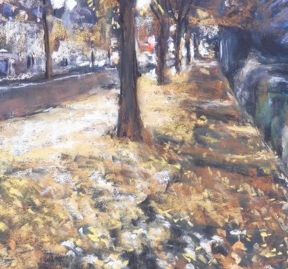 le bel automne à BLR II, pastel